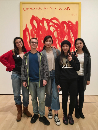 The 艺术护照 team: industrial engineering students Luna Izpisua Rodriguez, Alexandre Vincent, Yuyang (Raina) Pan, and Jiahe Zhou, and civil engineering student Shuo Chang.